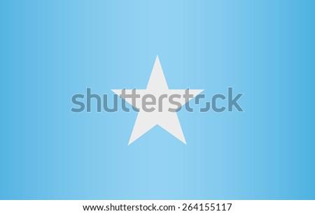 Somalia Flag - stock vector
