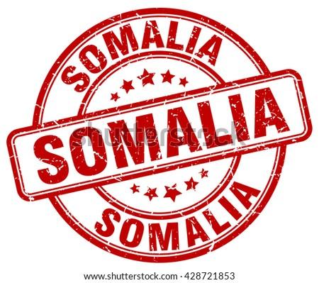 Somalia red grunge round vintage rubber stamp.Somalia stamp.Somalia round stamp.Somalia grunge stamp.Somalia.Somalia vintage stamp. - stock vector