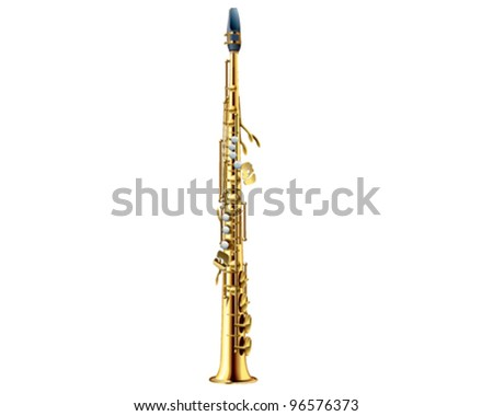 Soprano Saxophone - stock vector