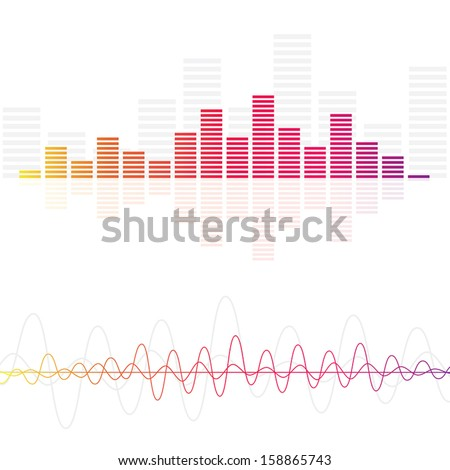 Sound & Audio Waves - stock vector