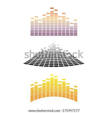 Sound & Audio Waves  - stock vector
