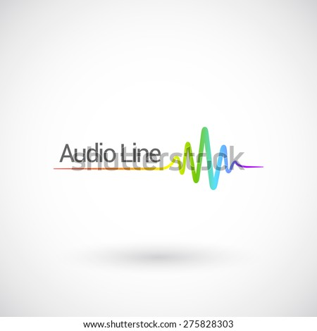 Sound & Audio Waves, vector logo design template. - stock vector