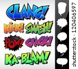 Sound Effects: Comic Book / Graffiti Style with Speech Bubbles - stock vector
