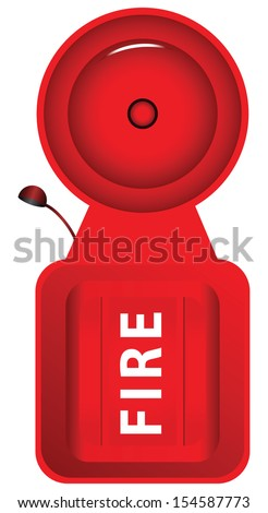 Sound the fire alarm in the form of a bell. Vector illustration. - stock vector