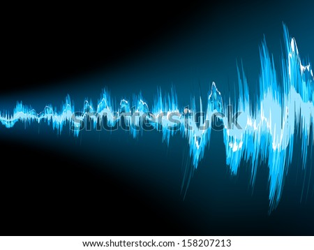 Sound wave abstract background. EPS 10 vector file included - stock vector