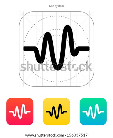 Sound wave icon. Vector illustration. - stock vector