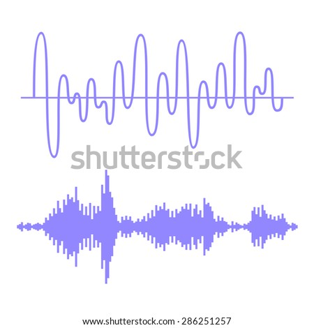 Sound Waves Set - stock vector