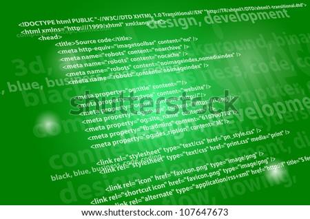 Source code background vector - stock vector