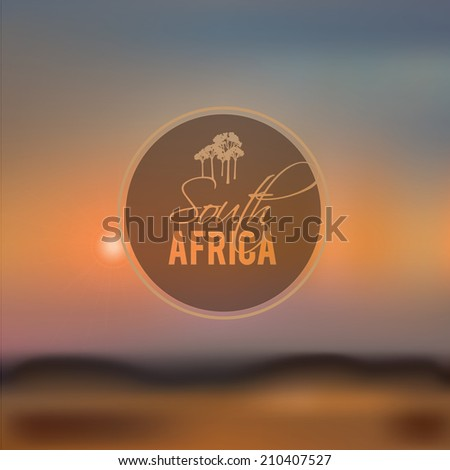 south africa blurry landscape vector illustration - stock vector