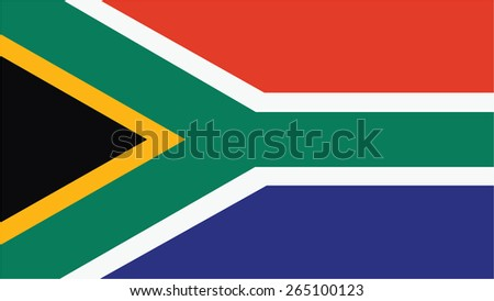 south africa  Flag for Independence Day and infographic Vector illustration. - stock vector