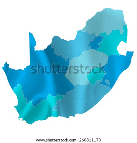 South Africa map countries - stock vector