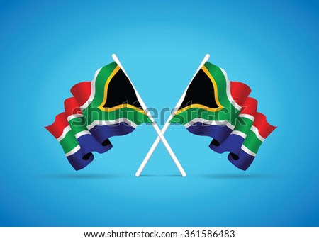 south africa national flag - stock vector
