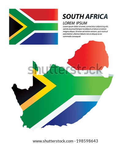 South Africa vector - stock vector