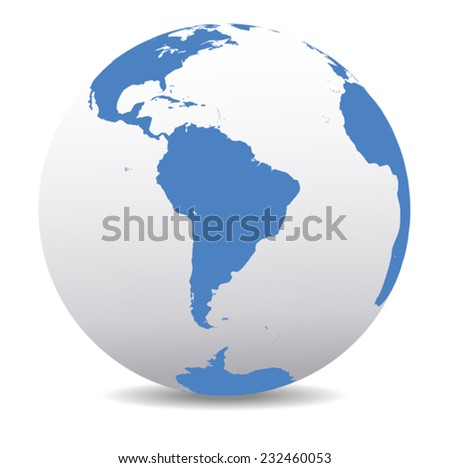 South America Global World  - stock vector