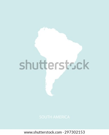 South America map vector in a faded background, South America map outlines for publication, science, and web-page template uses  - stock vector