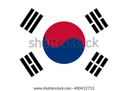 South Korea Flag ( Republic of South Korea ) - stock vector