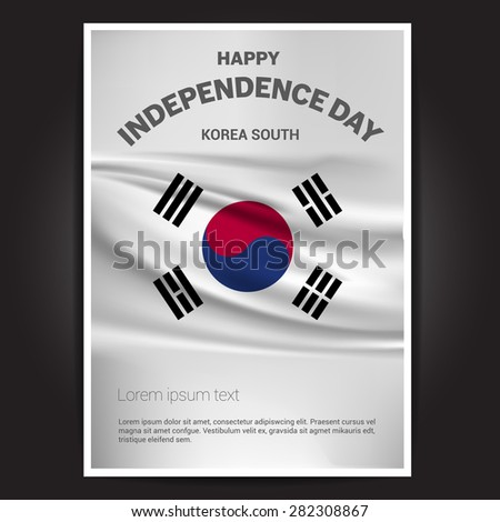 South Korea Independence Day poster - stock vector