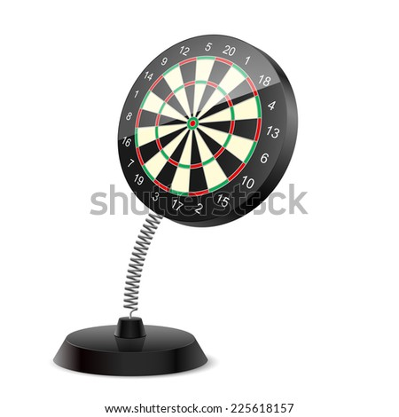 Souvenir at the spring in form darts on the white background - stock vector