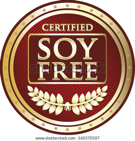 Soy Free Red Label - stock vector