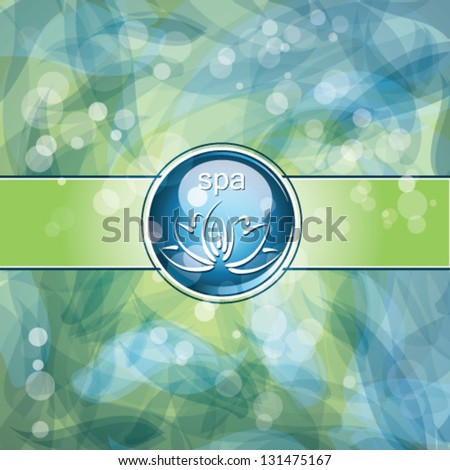 spa background - stock vector
