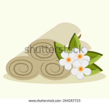 Spa design over white background, vector illustration. - stock vector