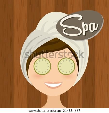 spa design over wooden   background vector illustration  - stock vector