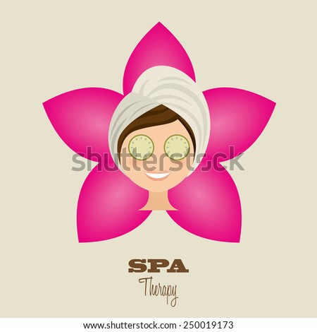 spa therapy  design, vector illustration eps10 graphic  - stock vector