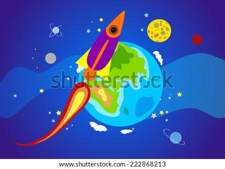 space - stock vector
