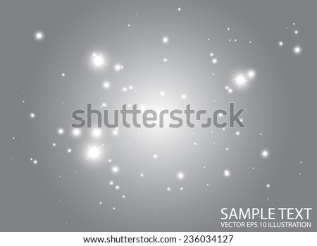 Space abstract shiny flares  background template - Shiny space glitters vector design background  illustration - stock vector