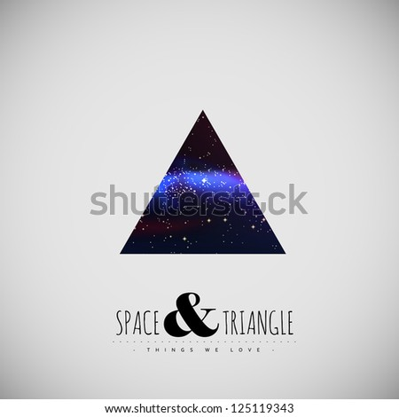 Space and triangle modern poster - stock vector