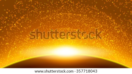 Space apocalypse cataclysm background in galaxy illustration vector design - stock vector