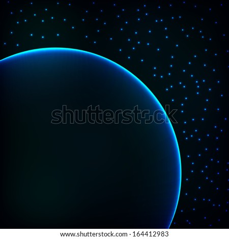 Space background planet vector concept abstract template - stock vector