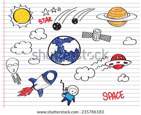 Space Craft Vector  - stock vector