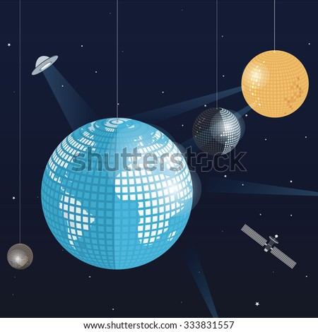 Space Disco - stock vector