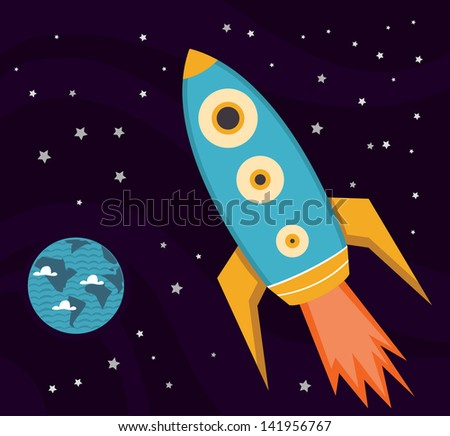 space explorations - stock vector