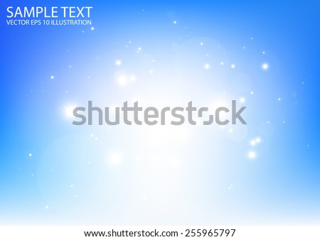 Space glitters vector blue background illustration - Vector abstract blue sparkles in space shiny background template - stock vector