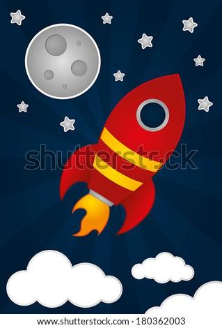 Space Rocket - stock vector