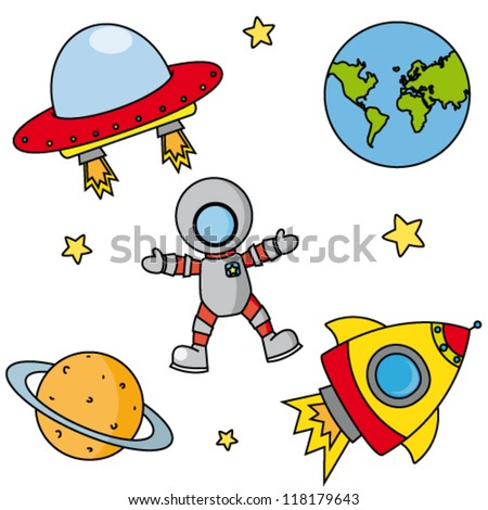 Space set - stock vector