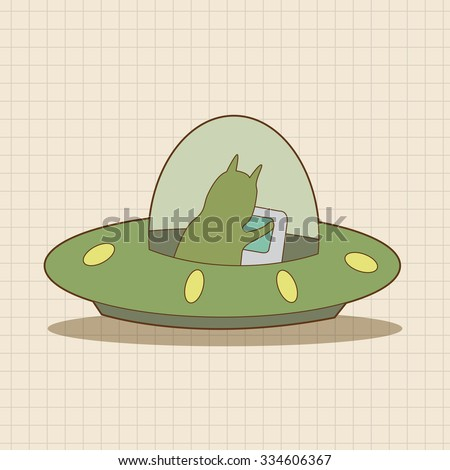 Space UFO theme elements vector, eps - stock vector