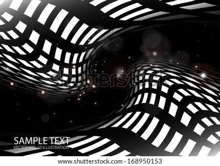 Space vector tunnel illustration abstract background illustration - Vector space travel abstract web template  - stock vector