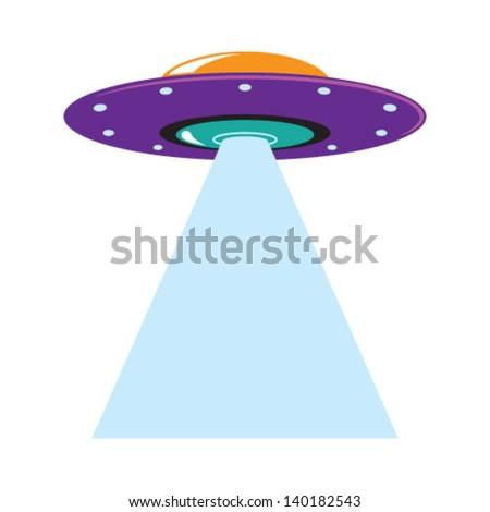 Spaceship Beam - stock vector