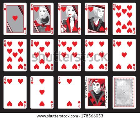 spades cards - stock vector