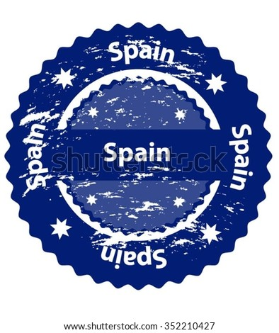 Spain Country Grunge Stamp - stock vector