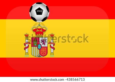 Spain flag - stock vector