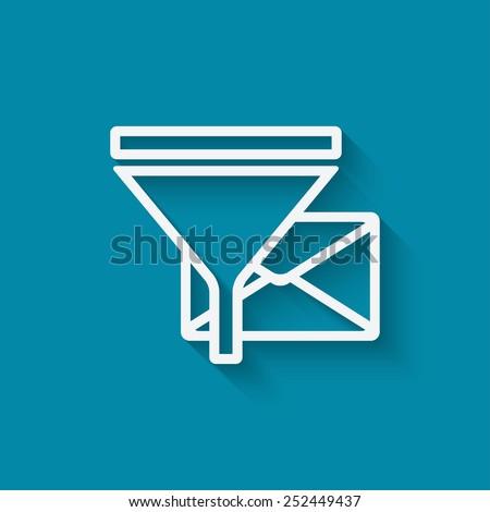 spam filter concept symbol - vector illustration. eps 10 - stock vector