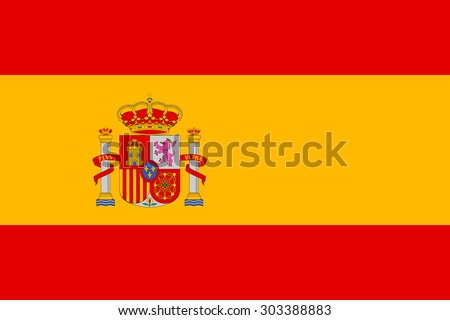Spain flag vector