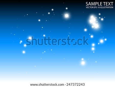 Sparkle blue template vector blue background illustration - Abstract blue sparkle fall vector background illustration - stock vector
