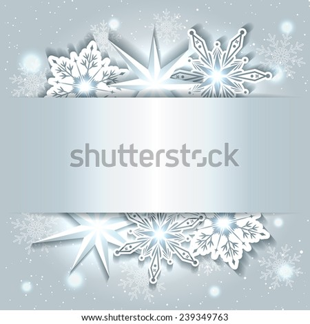 Sparkling Christmas Background with Snowflake - stock vector