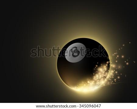 sparkling vector snooker ball - stock vector