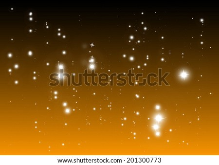 Sparks night falling vector abstract background template  - Vector shiny Christmas star fall  background illustration - stock vector